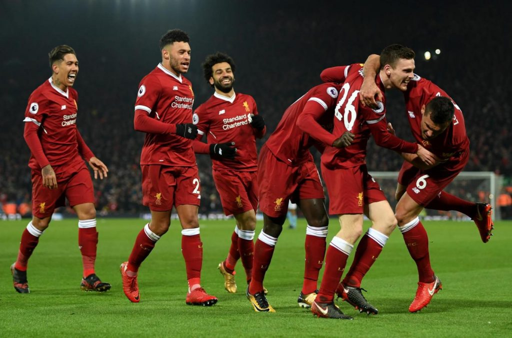Liverpool Vs Manchester City January 2018