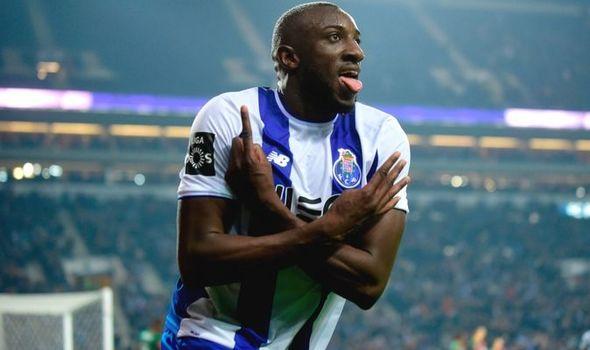 FC Porto striker Moussa Marega celebrates after scoring. (Getty Images)