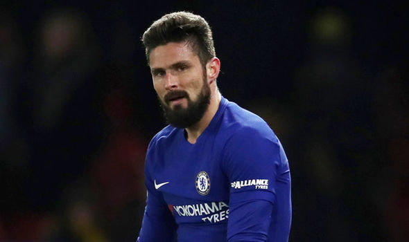 Olivier Giroud has fallen down the pecking order with Chelsea manager Lampard.