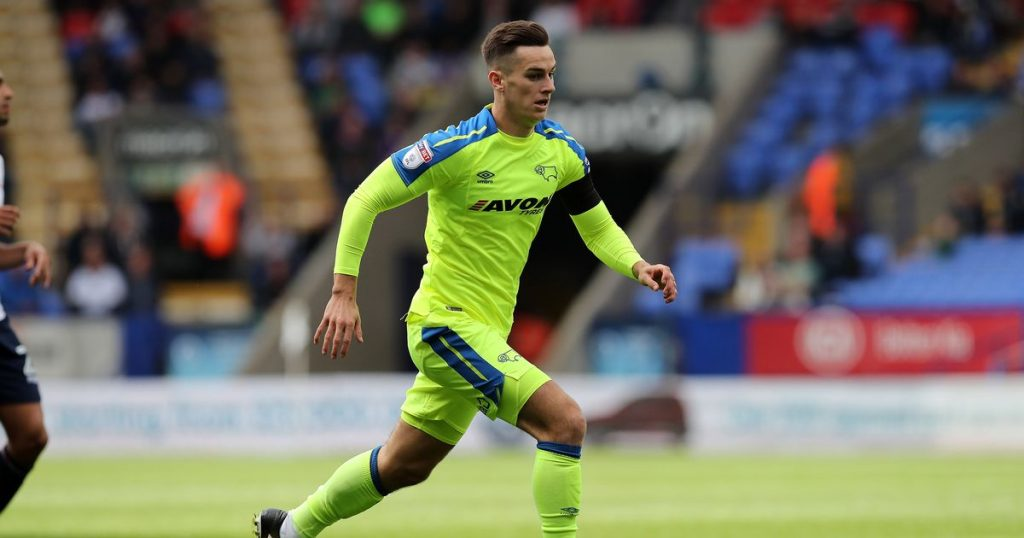 Derby County winger Tom Lawrence in action. (Getty Images)