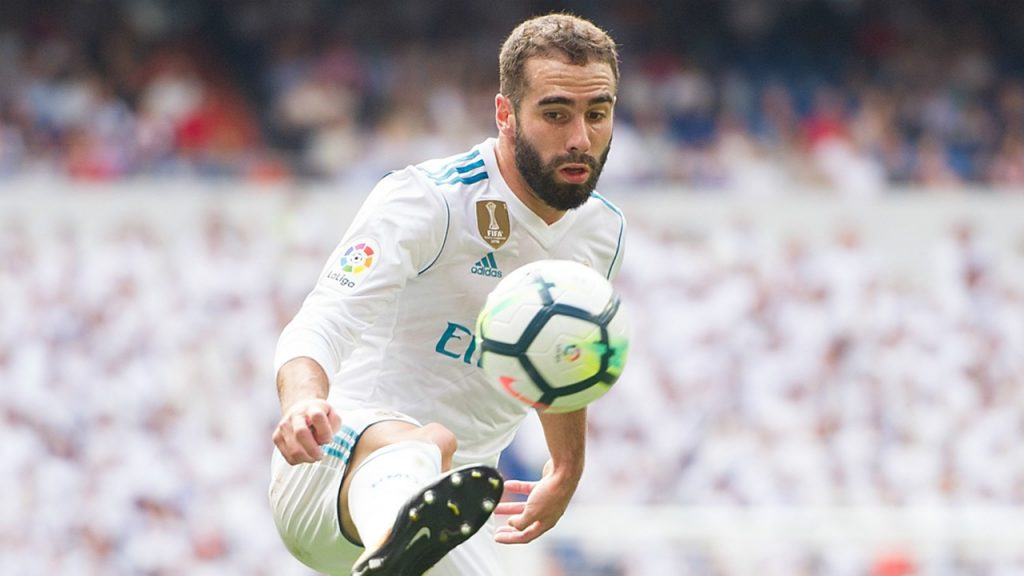 Real Madrid full-back Dani Carvajal.