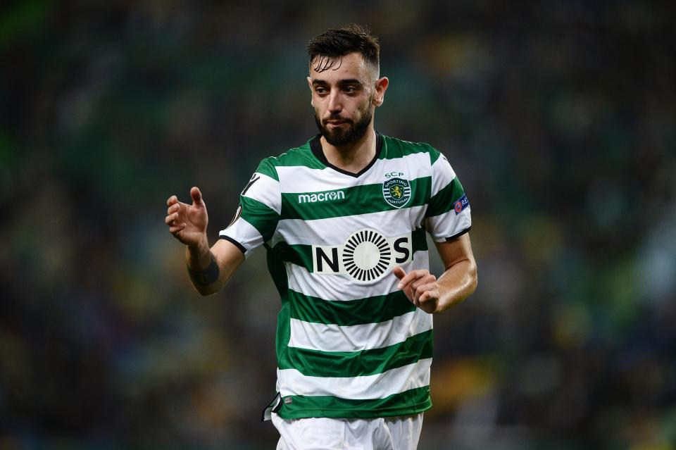 Sporting Lisbon midfielder Bruno Fernandes in action. (Getty Images)