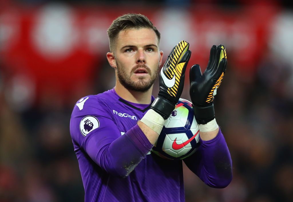 Stoke City goalkeeper Jack Butland in action. (Getty Images)