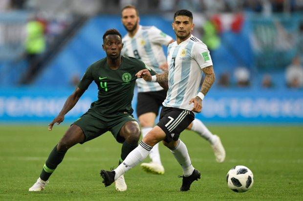 Argentina midfielder Ever Banega in action against Nigeria in the 2018 World Cup. (Getty Images)