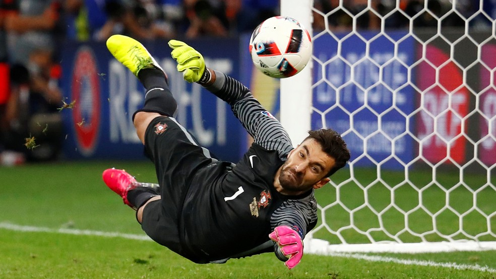 Wolves goalkeeper Rui Patricio playing for Portugal.