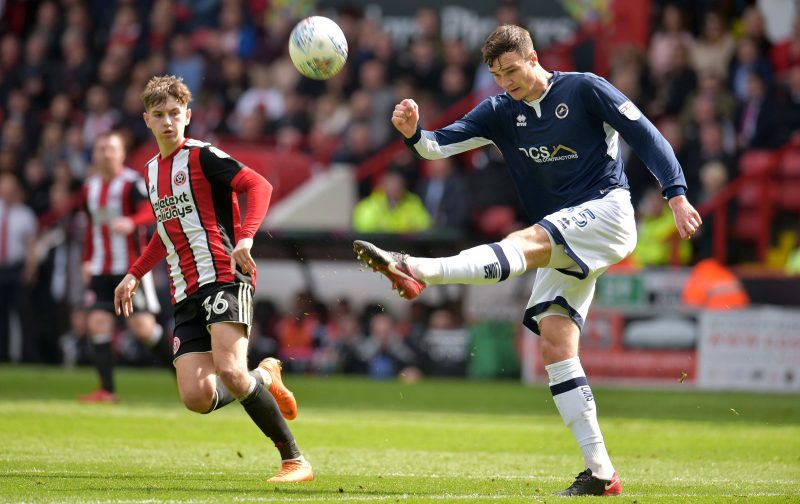 Millwall defender Jake Cooper clears the ball. (Getty Images)