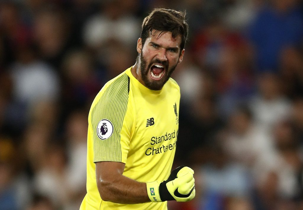 Liverpool first-choice goalkeeper Alisson Becker.