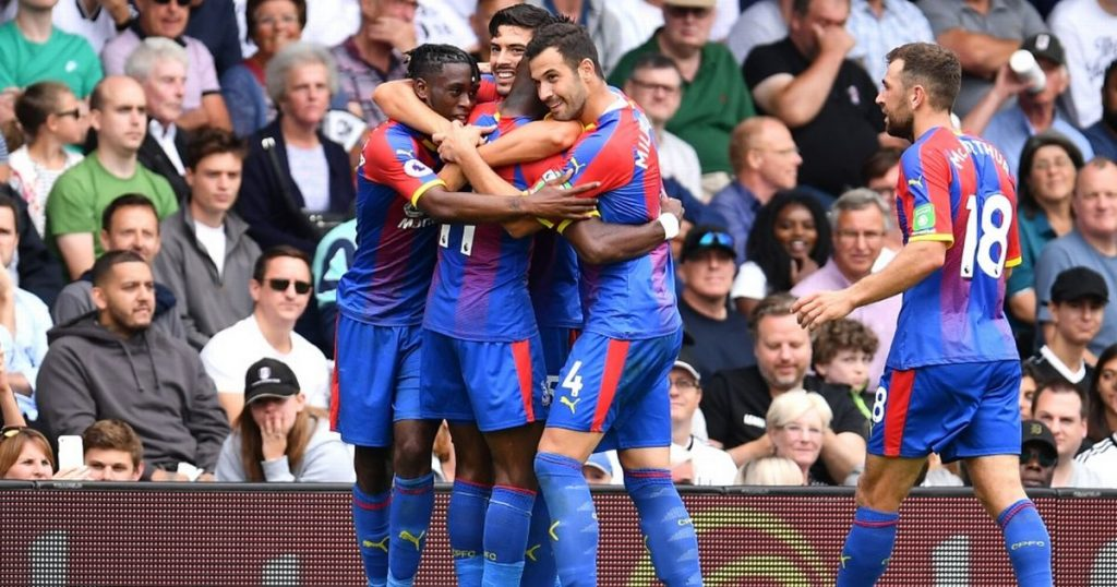 Crystal Palace players celebrating after scoring a goal (Getty Images)