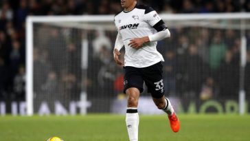 Curtis Davies in action for Derby County. (Getty Images)