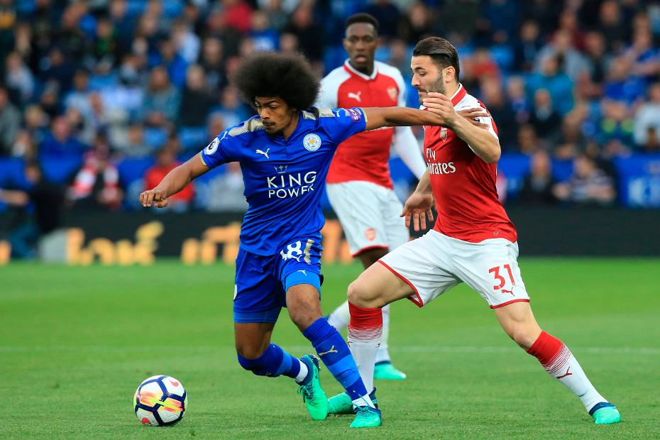 Leicester City's young midfielder Hamza Choudhury.