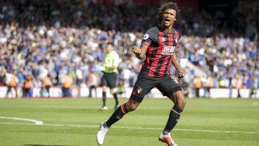 Bournemouth defender Nathan Ake celebrates after scoring. (Getty Images)