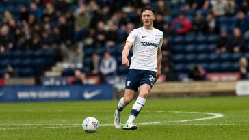 Preston defender Ben Davies in action. (Getty Images)