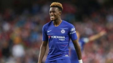 Chelsea winger Callum Hudson-Odoi in action. (Getty Images)