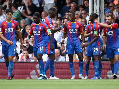 Crystal Palace players during a premier league game.