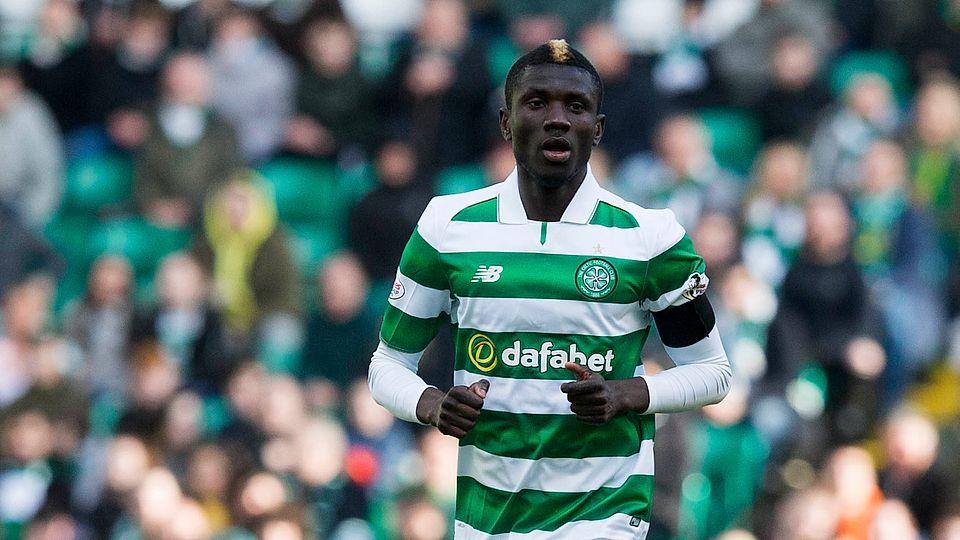 Celtic midfielder Eboue Kouassi in action. (Getty Images)