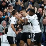Fulham players celebrate after scoring. (Getty Images)