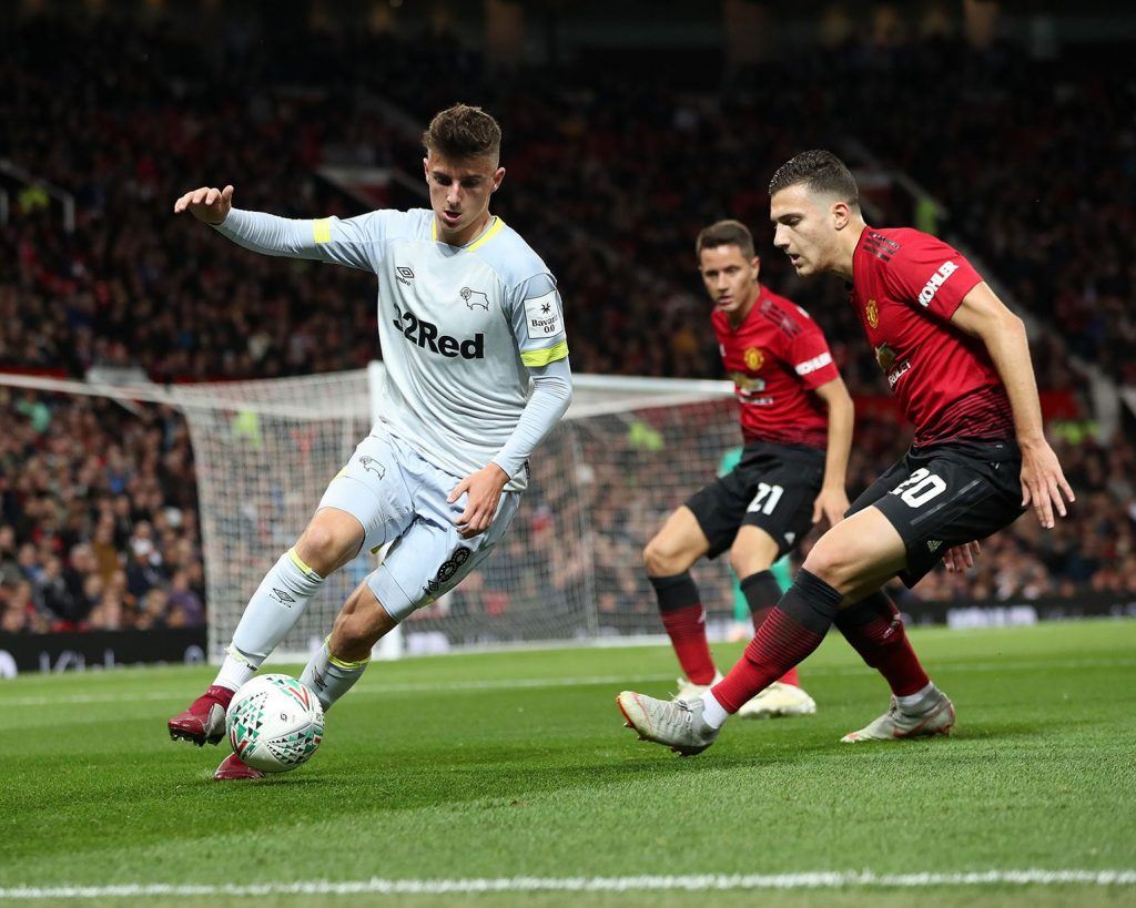 Mason Mount against Manchester United