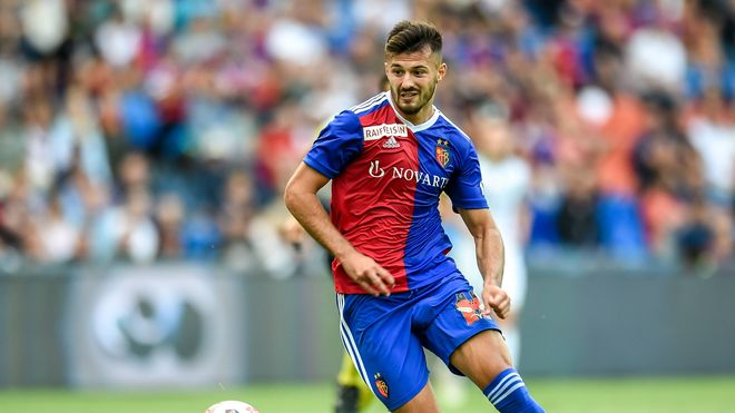 West Ham forward Albian Ajeti while playing for Basel.