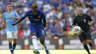 Chelsea winger Callum Hudson-Odoi in action against Manchester City in the Community Shield. (Getty Images)