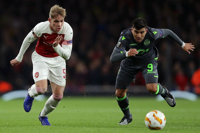 Emile Smith-Rowe (L) (Getty Images)