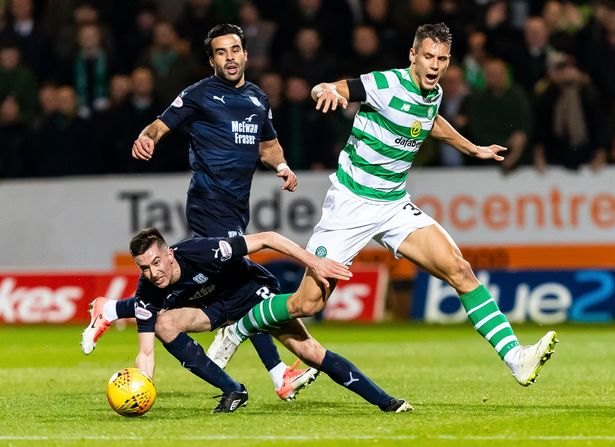 Filip Benkovic during his loan spell with Celtic. (Getty Images)