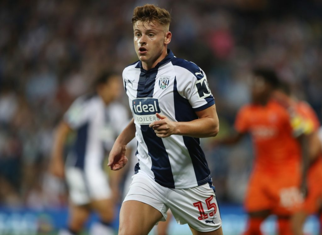 Harvey Barnes during his West Bromwich Albion days.