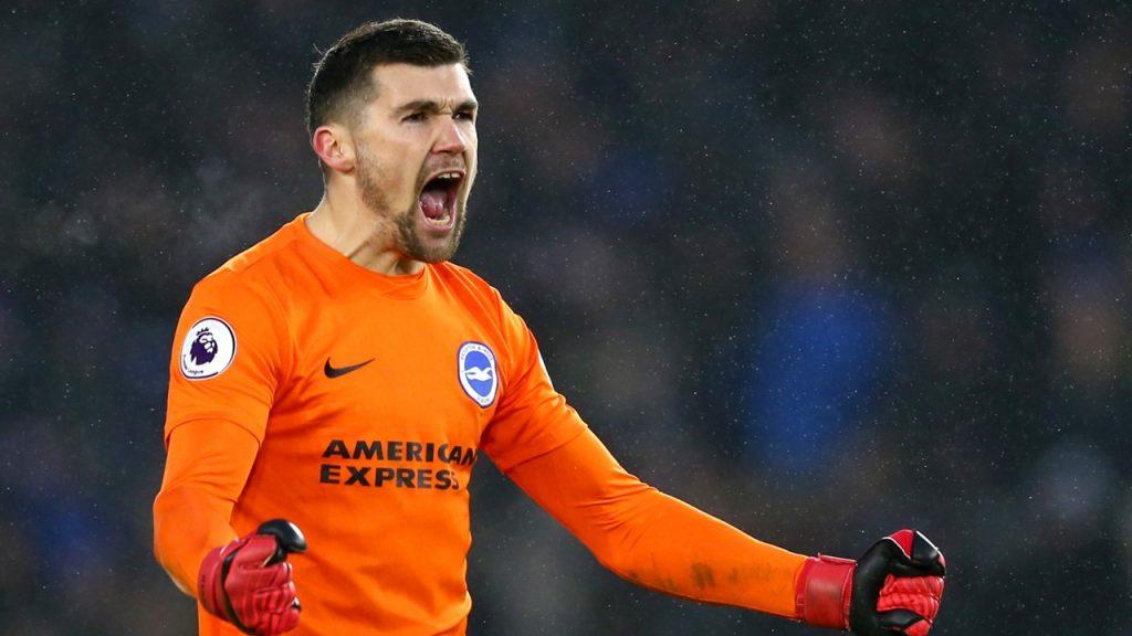 Brighton goalkeeper Mathew Ryan.