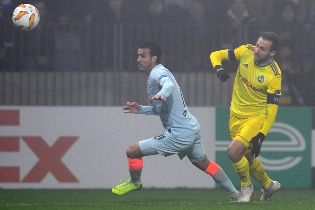 Chelsea's Pedro in Europa League action in 2018. (Getty Images)