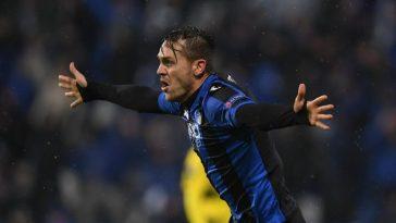 Atalanta defender Rafael Toloi celebrates after scoring. (Getty Images)