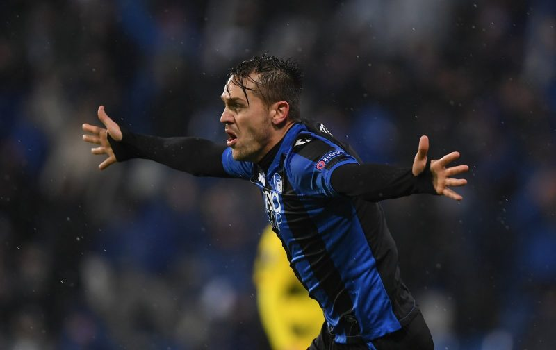 Atalanta defender Rafael Toloi celebrates after scoring. (Getty Images)