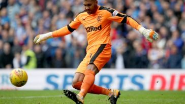 Rangers goalkeeper Wes Foderingham in action. (Getty Images)