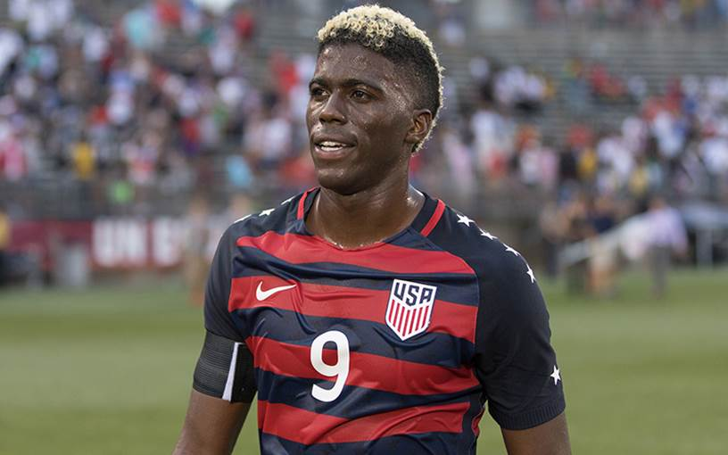 Gyasi Zardes in La Galaxy colours. (Getty Images)