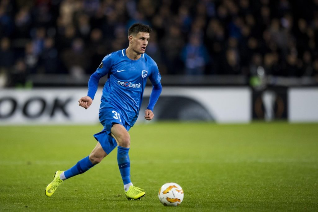 Genk right-back Joakim Maehle in action. (Getty Images)