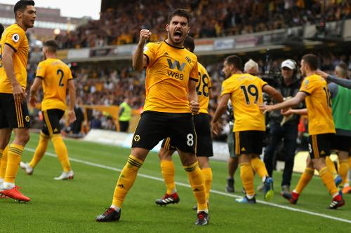 Ruben Neves celebrates after scoring. (Getty Images)