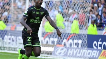 Marcus Thuram celebrates after scoring for Guingamp. (Getty Images)