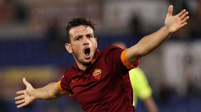 AS Roma right-back Alessandro Florenzi celebrates after scoring. (Getty Images)