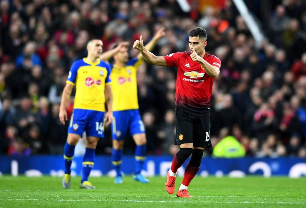 Andreas Pereira will mostly be manager Ole's preferred No.10 against Brighton