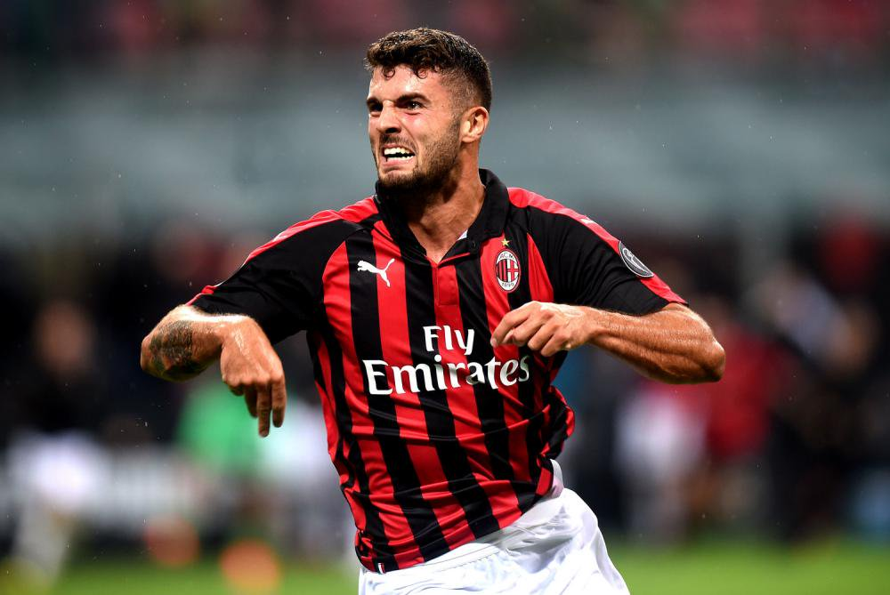 Patrick Cutrone during his stint with AC Milan.
