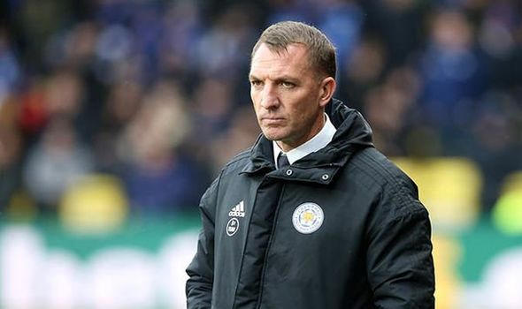 Leicester manager Brendan Rodgers on the touchline. (Getty Images)