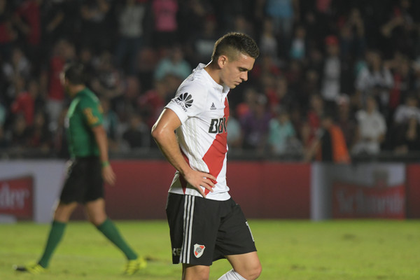 River Plate striker Rafael Borre looks disappointed. (Getty Images)