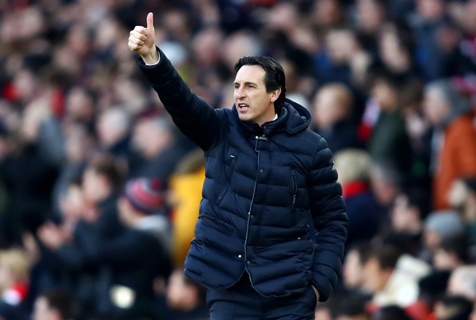 Arsenal boss Unai Emery.