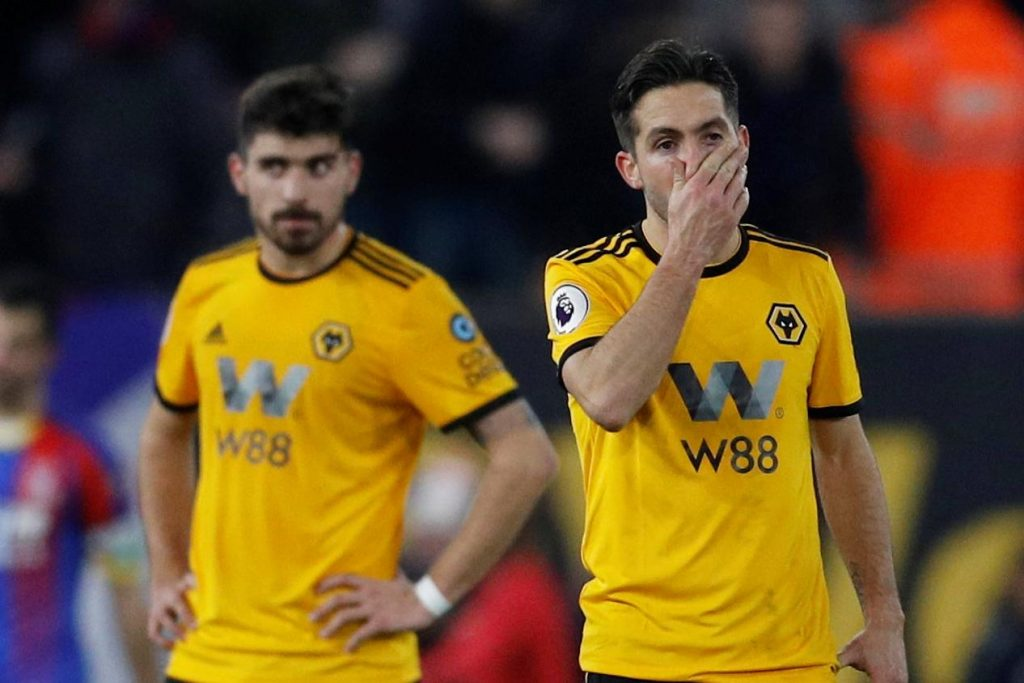 Wolves midfielders Joao Moutinho and Ruben Neves during a Premier League encounter.