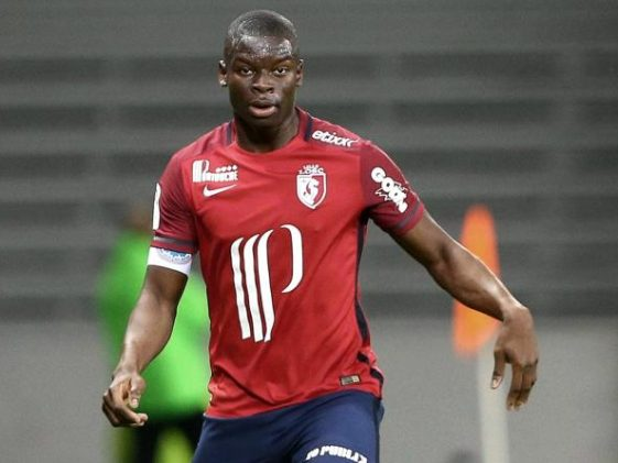 Lille defender Adama Soumaoro in action. (Getty Images)