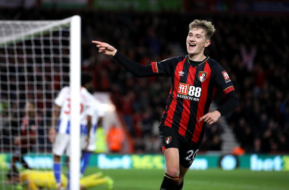 Bournemouth's attacking midfielder David Brooks is out with an injury.
