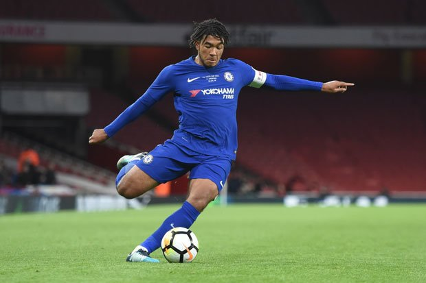 Chelsea's young right-back Reece James.