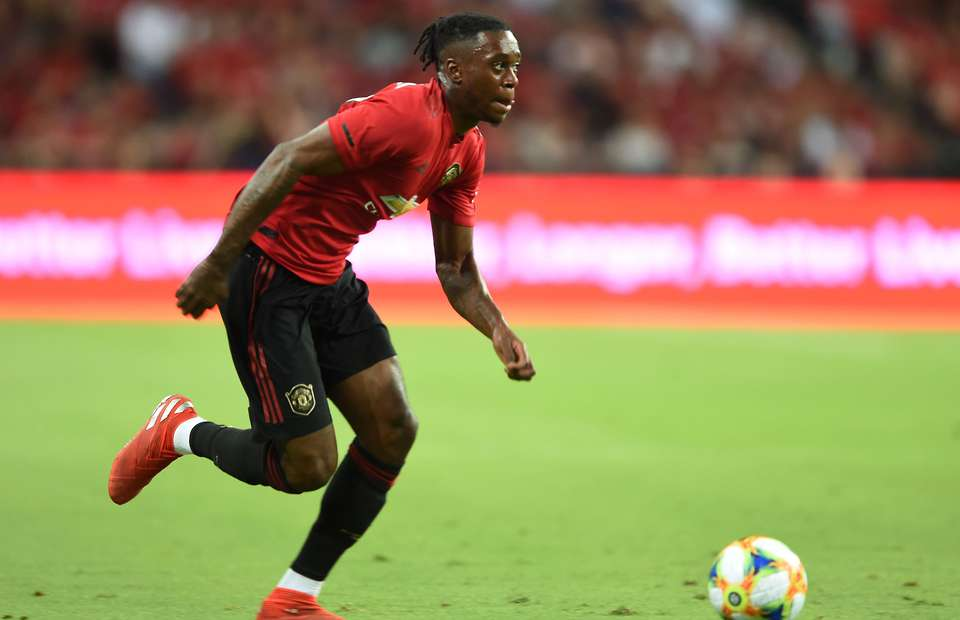 Manchester United right-back Wan-Bissaka.