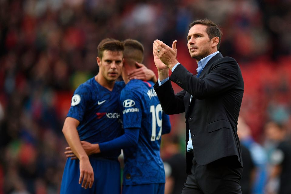 Chelsea boss Frank Lampard during a Premier League encounter.