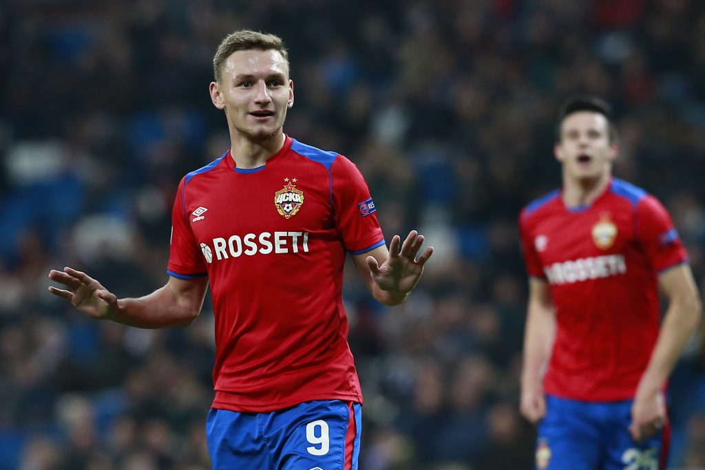 CSKA Moscow striker Fedor Chalov (Getty Images)