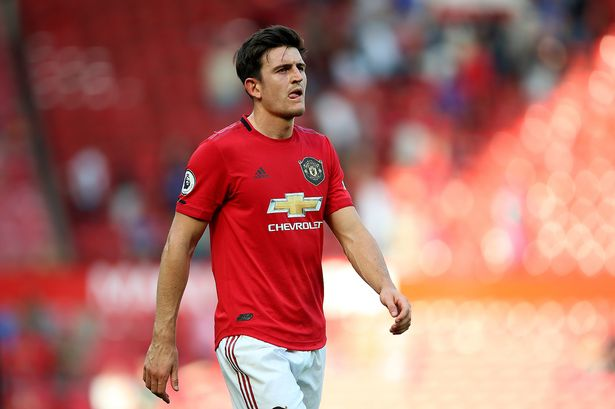 The Red Devils defender Harry Maguire.