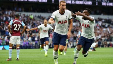 Tottenham stars celebrate after scoring a goal (Getty Images)
